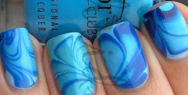 аква дизайн ногте
