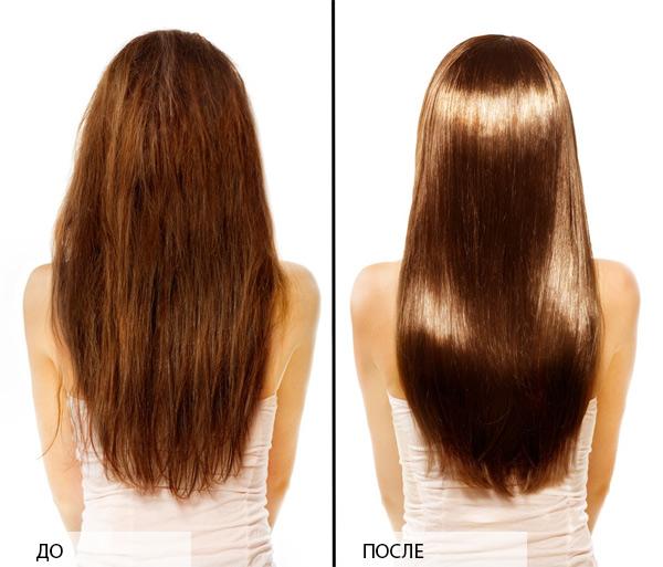 Маска для волос для гладких волос